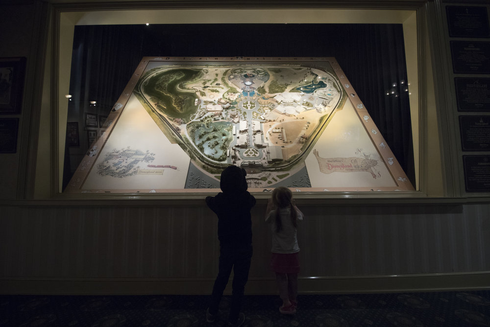An amazing diorama map of Disneyland the day it opened in 1955.