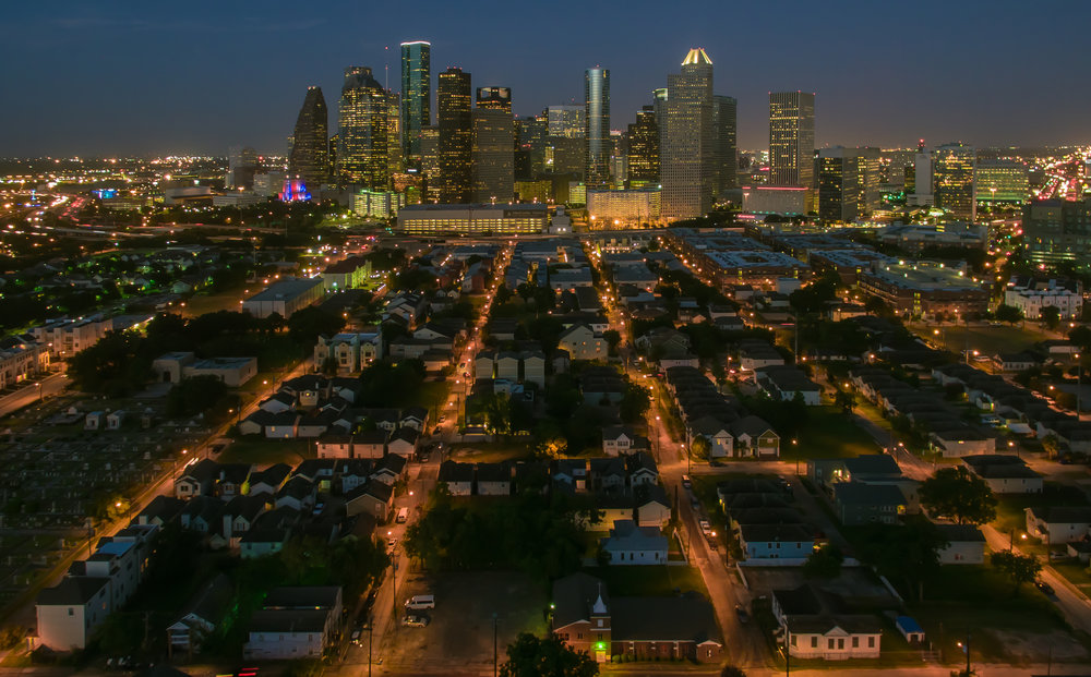 Urban Skyline at NIght Jim Wiehoff