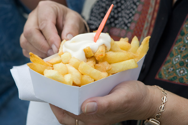 Who needs ketchup when you can slather your fries in mayo?