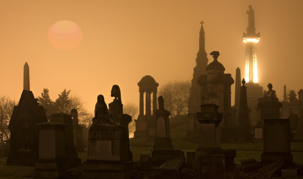 A misty, spooky morning at The Necropolis