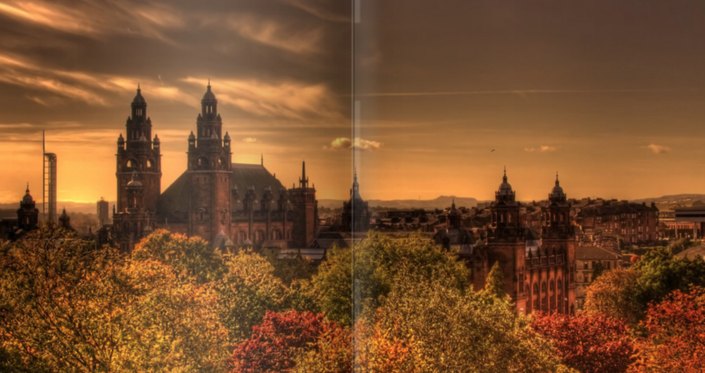 Overlooking Kelvingrove and the University of Glasgow