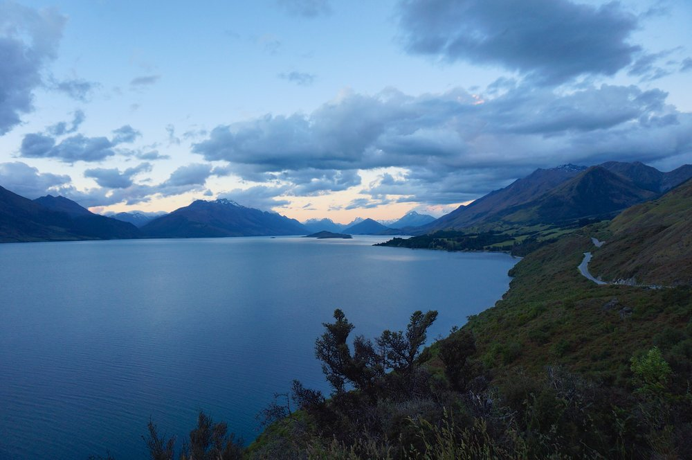 At the end of this stunning half-hour drive was a quaint little town called Glenorchy. When we arrived at 8pm, not even the petrol station was open