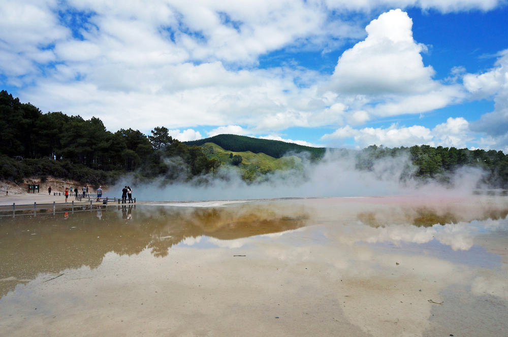 Wai-o-Tapu is a total tourist trap and the bane of every NCEA Geography student, but you must admit that its array of geothermal pools in every shade of the rainbow is pretty cool