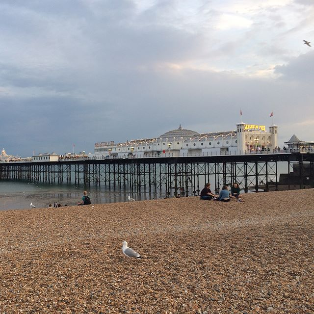 Cycling along Brighton