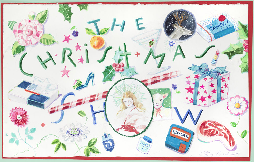 """The Christmas Show"" Watercolor Collage by Cathy B. Graham,"