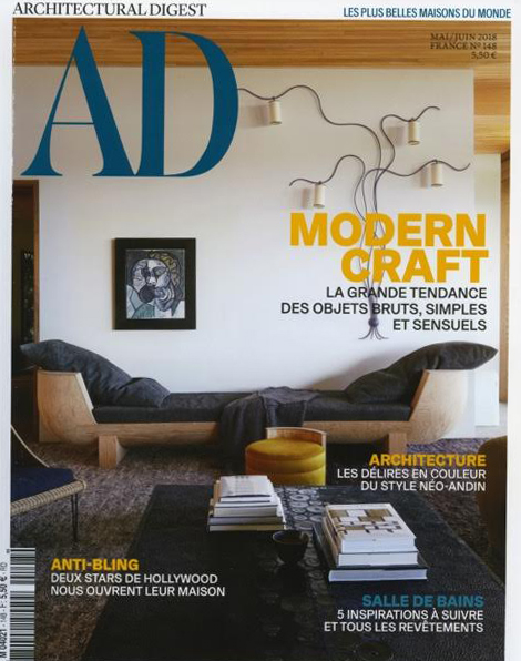 Architectural Digest - Reconsidérer le decorMay /June 2018