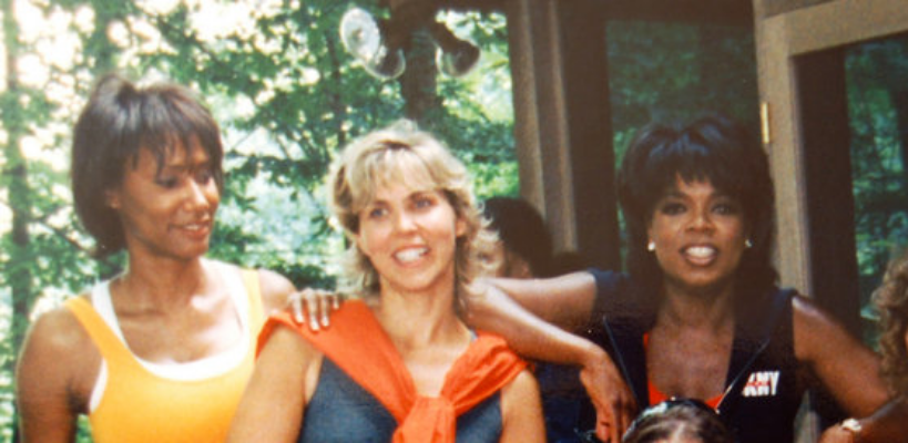 "Through the years, Kristine has had the opportunity to do film work with some amazing people.  Here she is at Oprah Winfrey's farm during the filming of the ""Make the Connection"" video staring Oprah and her trainer Bob Greene.  Kristine appears in the video telling her story.  She is the shoulder Oprah is leaning on."