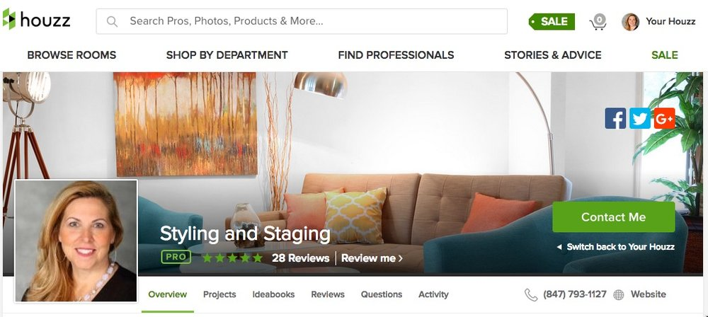 Houzz PRO ... with client reviews