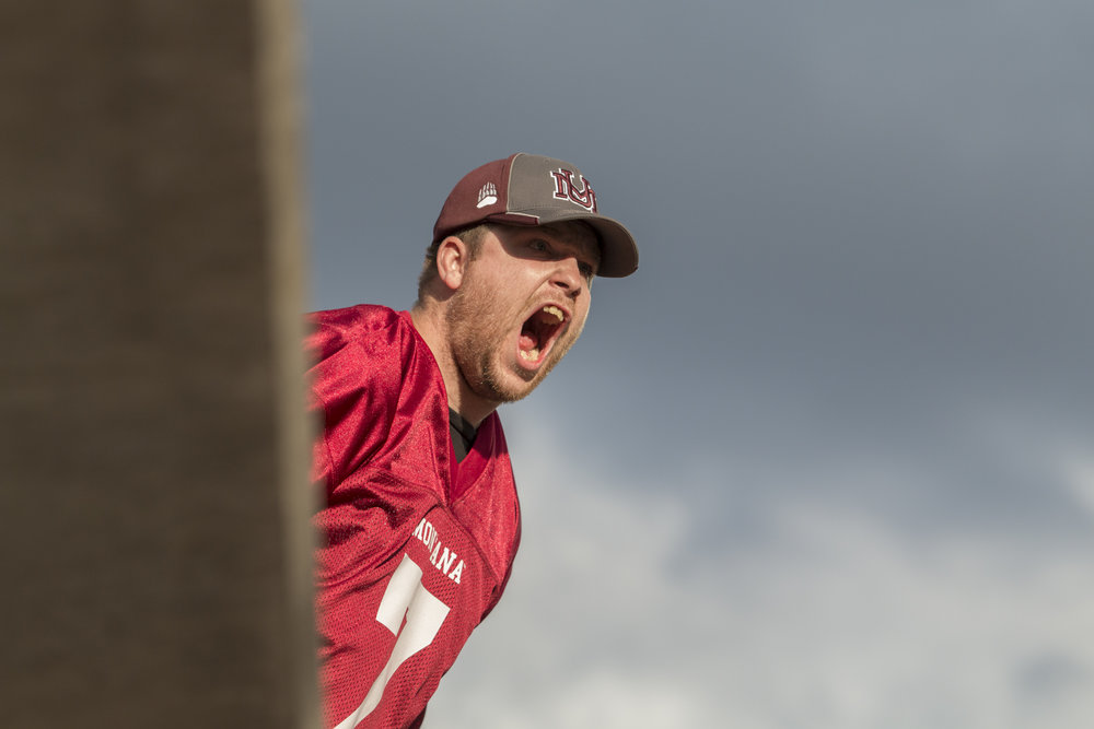 A Griz fan screams during the fourth quarter of the University of Montana vs. Southern Utah University football game on Oct. 1, 2016, at Washington Grizzly Stadium.