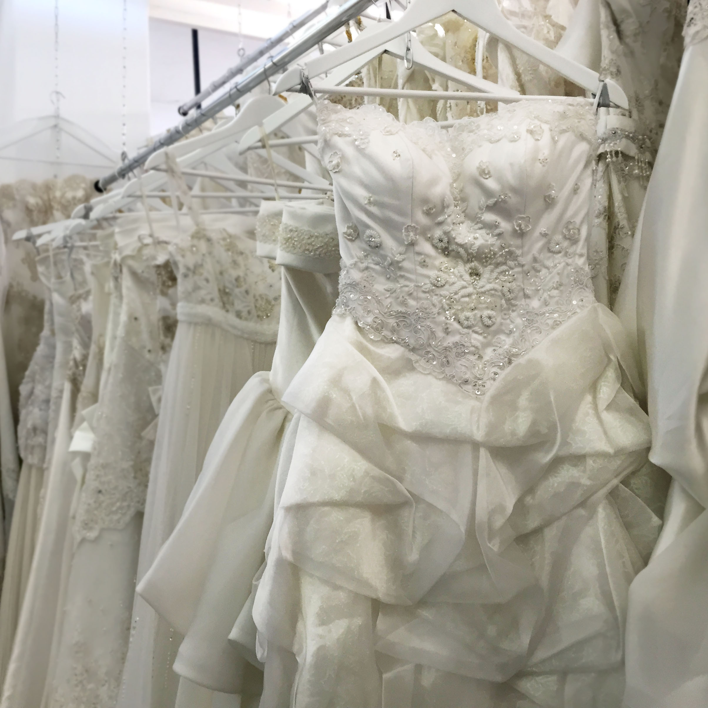 New collection of wedding dresses are in store now.