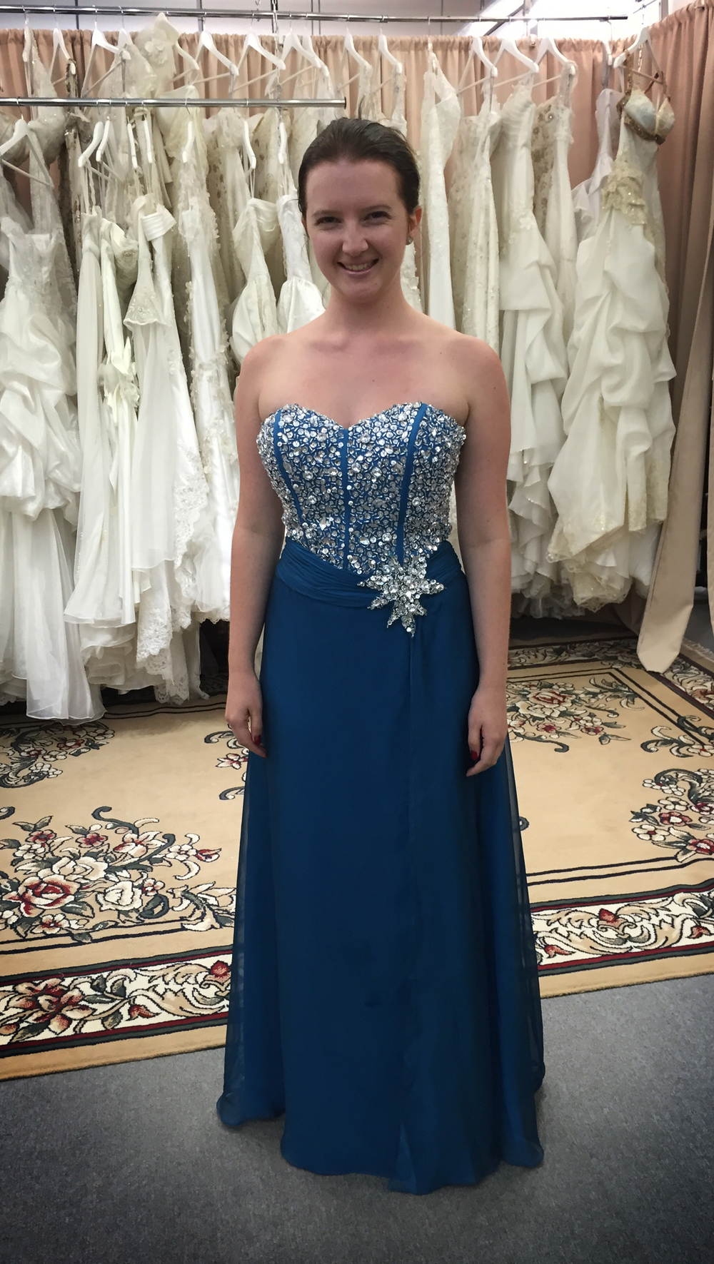 Emily had her dress taken in with beading, and we had it turn around in a day, she is impressed with the finish and the time frame.