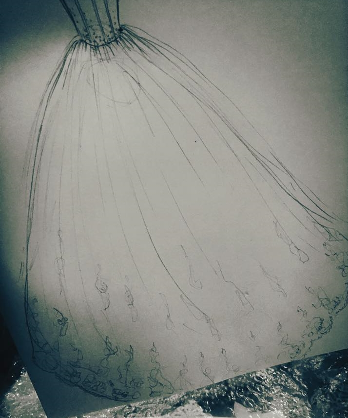 bridal dress from sketch