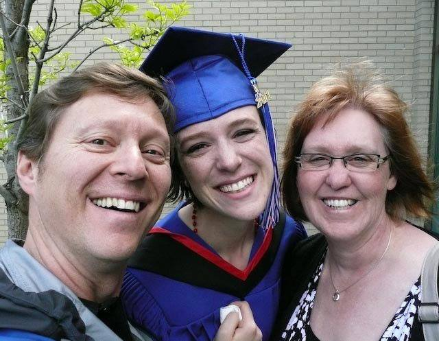 My parents and I at my graduation.