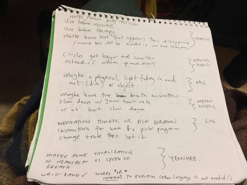 Our notes from playtesting... (Click to enlarge)