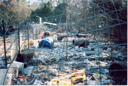 The boneyard were Jasper and other dog's lived on the puppy mill