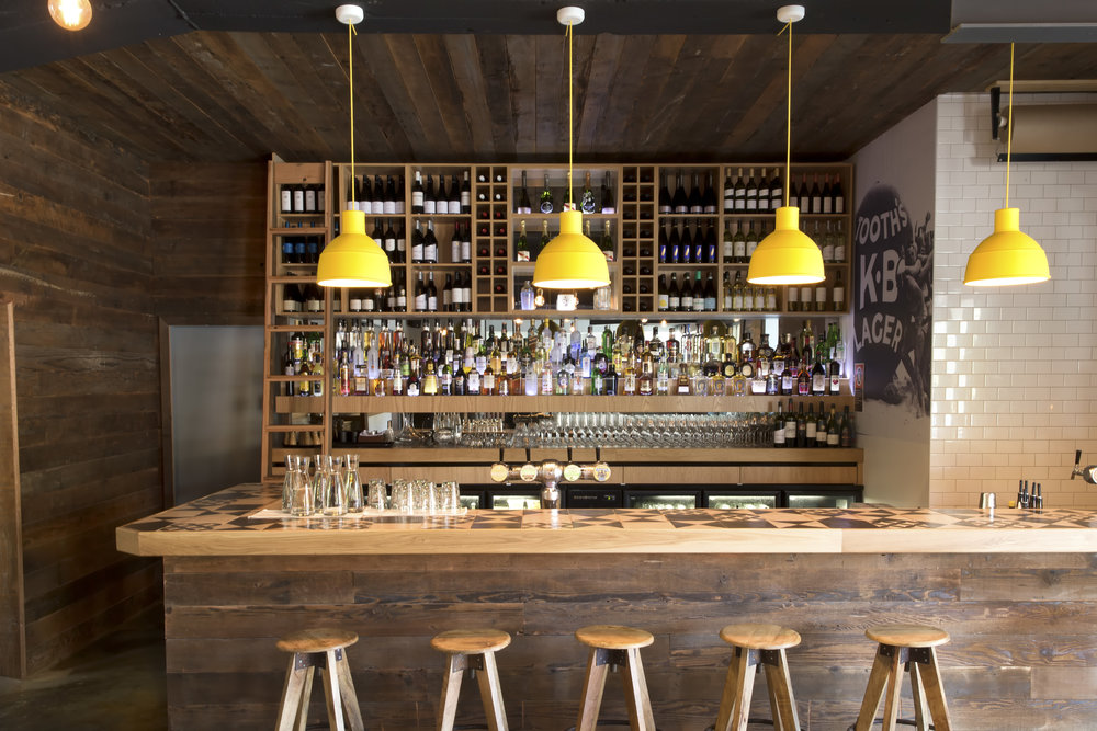 Yellow UNFOLD Pendant Lamps at the Bellwood Bondi Clubhouse - Sydney.jpg