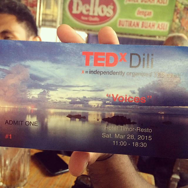 #TEDx Dili tickets on sale today at Acait and Esplanada!