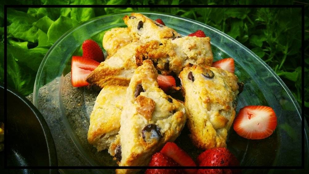 spring-time Strawberry Chocolate Scones