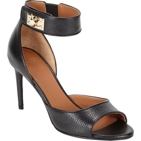 Givenchy  Horn Turn Lock Ankle-Strap Sandals $975   www.barneys.com