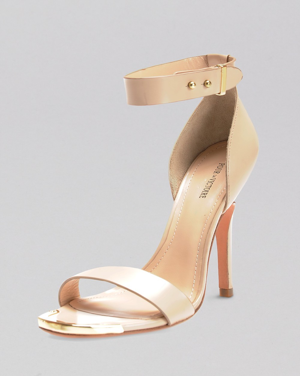 Pour La Victoire  Open Toe Ankle Strap Sandals - Yaya High Heel $175  www.bloomingdales.com