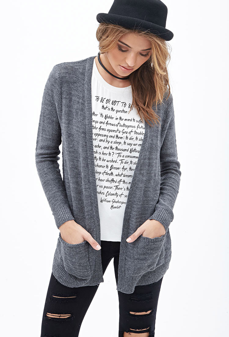 Forever21  Classic Open-Front Cardigan $25   www.forever21.com