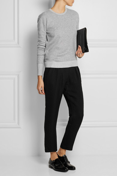 Studio Nicholson  Cropped jacquard tapered pants $385   www.net-a-porter.com