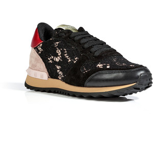 Valentino   Leather and Lace Sneakers $745   www.saksfifthavenue.com