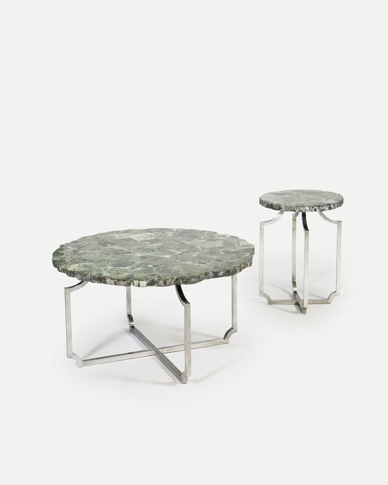 Co-Creative Studio, Detalia Aurora,Quarrie Tables, Green Wax Stone Lamination.jpg