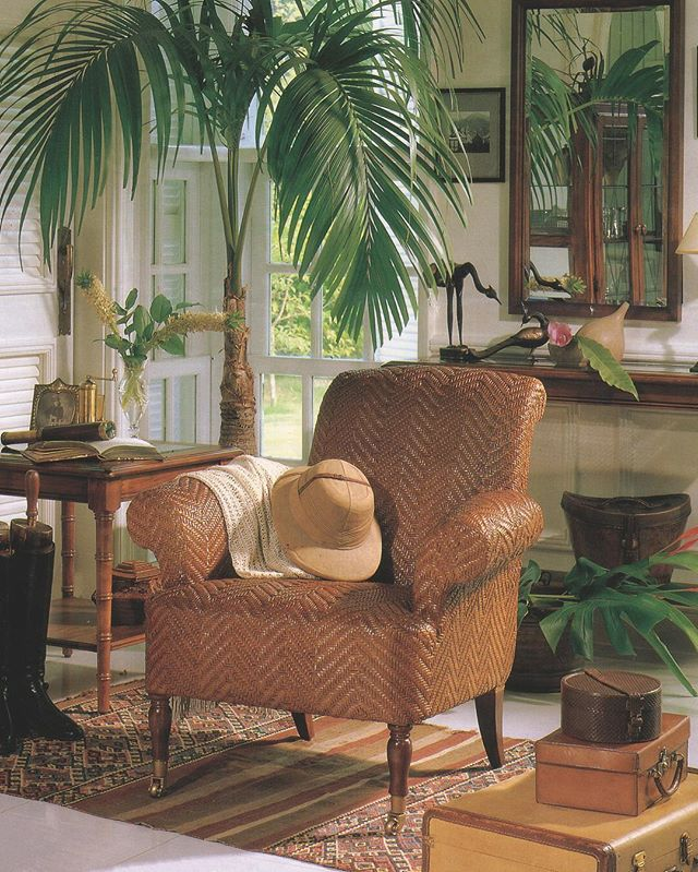 Let's time travel with our BAHAMA chair! This tropical beaut is entirely hand woven in Rattan Splits by our talented and patient Filipino craftsmen. #throwback