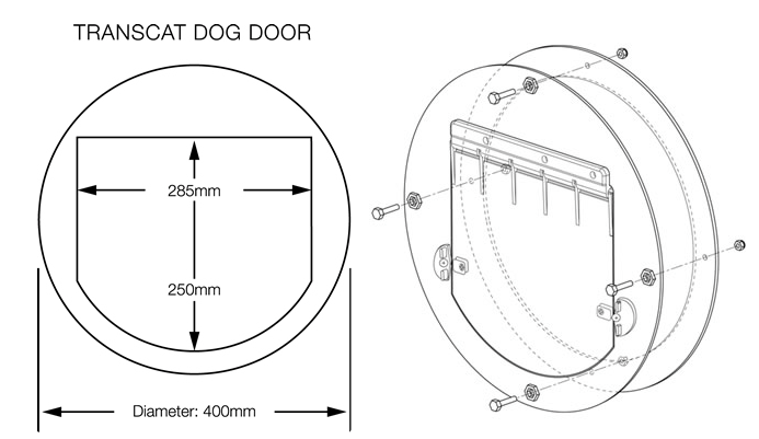 Cat Dog Doors Glassco Wa