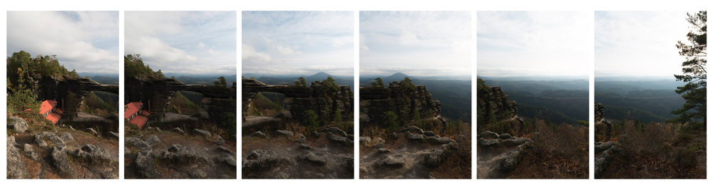 Six HDR photos created from the source photos, five for each. No further editing.