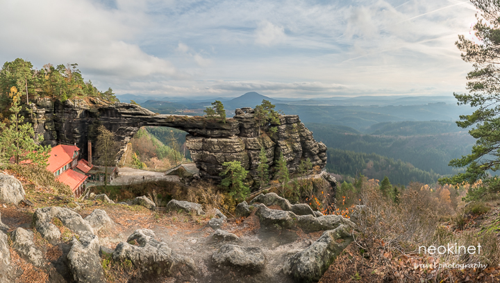 Pravcice Sandstone Gate (Pravcicka brana) in National Park Ceske Svycarsko (CZ) | Panorama and HDR stitched from 30 source photograps | Nikon D800 + Nikkor 24-70mm