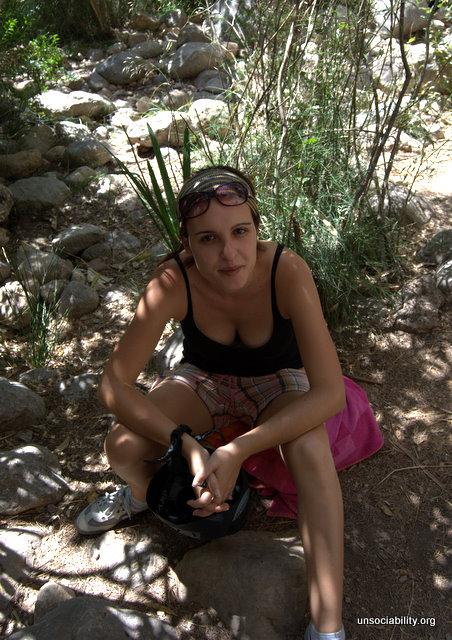 Laura, pasando calor