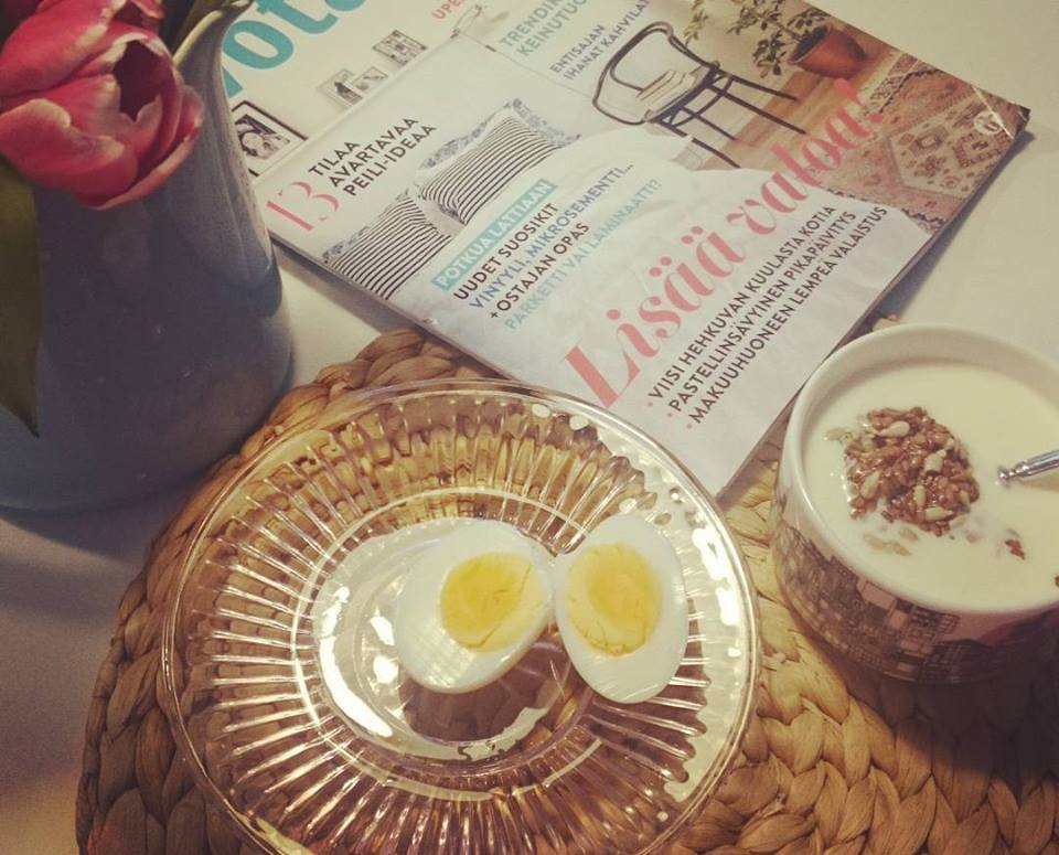 Aamupala- hyvää, terveellistä ja samettia vatsalle....