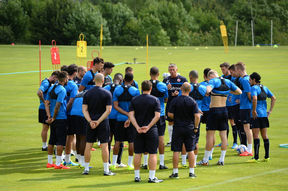 """""""All men are created equal, Some work harder in Pre-Season""""  Laying down the standards required at the start of pre-season with a very young group of players at Reading"""