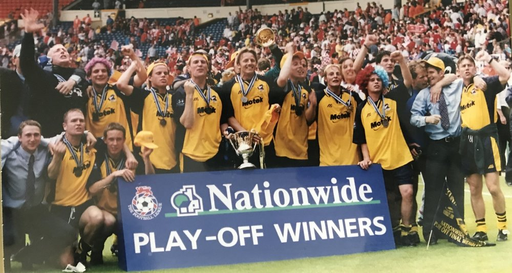 Scunthorpe United,  Nationwide Division3 Play-off Winners, Wembley Stadium, 1999.