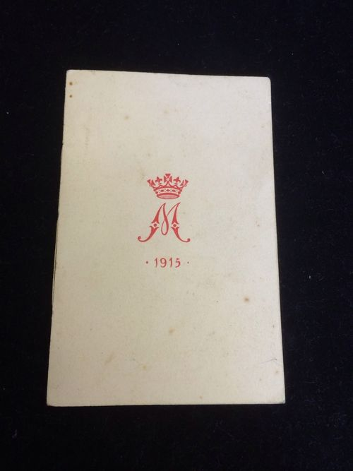 ww1 queen mary christmas card 1915 from princess mary tin contents