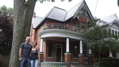 Clients Tim and Rozita at their new home in Parkdale.