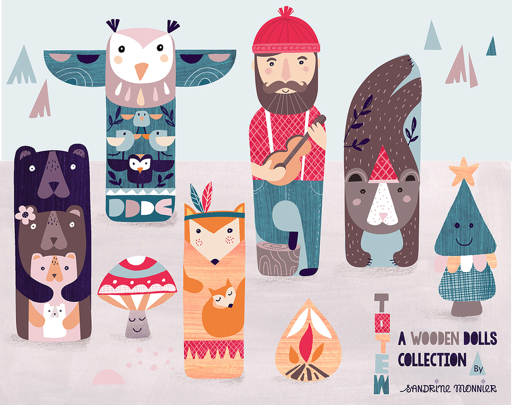 Totem: a wooden dolls collection