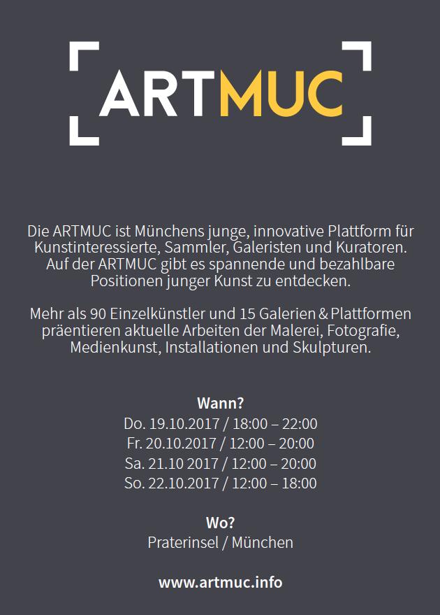ARTMUC Einladung Öffnungszeiten Alicia Henry