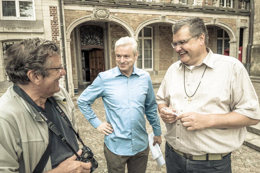 Mark Raquet, pater Johan en pater Karel
