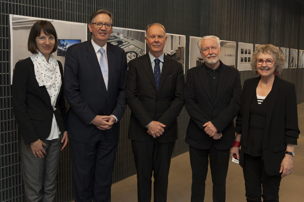 Joanna Jamroz, Goethe-Institute Australia, Michael R Pearce SC, Honourary Consul-General of the Federal Republic of Germany in Melbourne, Professoer Julian Goddard, Dr Geoff Hogg, Dr Maggie McCormick.