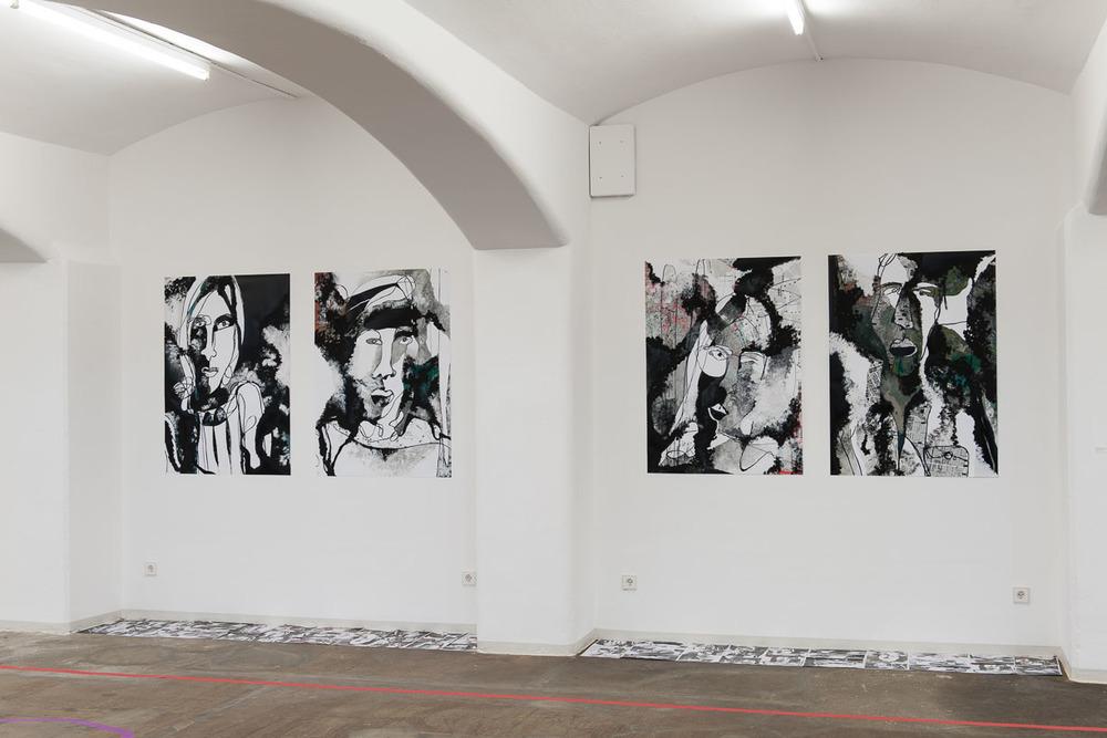 Angela Wetzel, SKYPELAB MAPS, Städtische Galerie Reutlingen, 2016, Photo: Karl Scheuring, Reutlingen