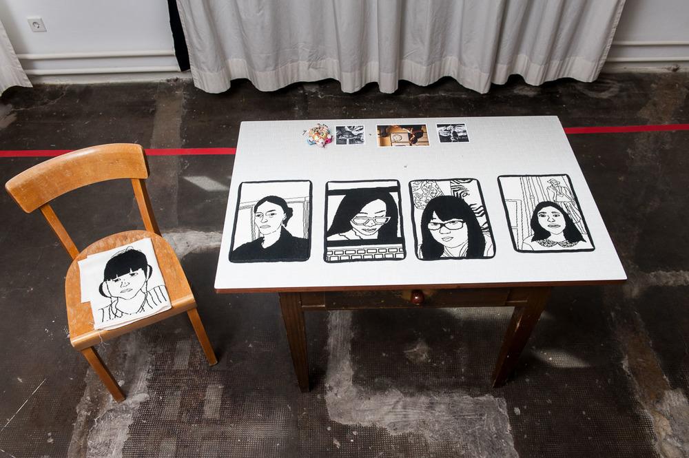 Clare McCracken, THREAD OF THE CONVERSATION, 2016, Städtische Galerie Reutlingen, 2016, Photo: Karl Scheuring, Reutlingen