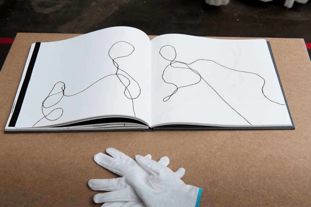 Clare McCracken, THREAD OF THE CONVERSATION - LOGBOOK, 2016, Städtische Galerie Reutlingen, 2016, Photo: Karl Scheuring, Reutlingen