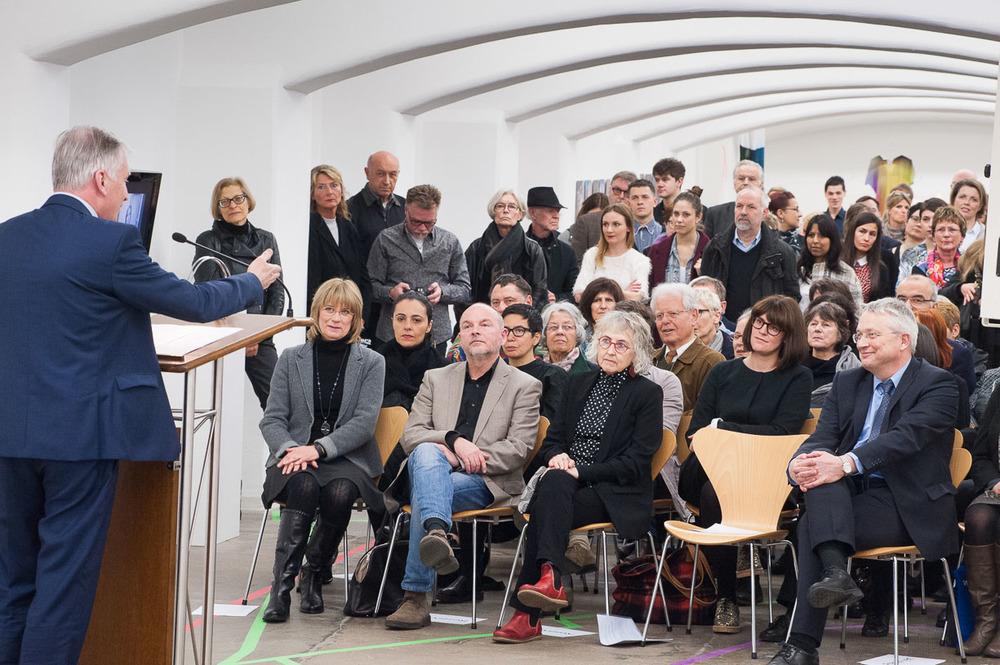 At the opening, Städtische Galerie Reutlingen, 2016