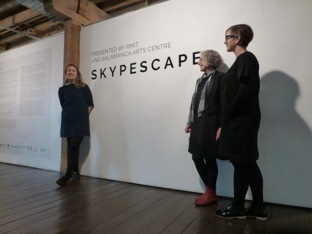 SAC Program Assist Ainslie Macauley and Curators Maggie McCormick and Fiona Hillary #2.jpg