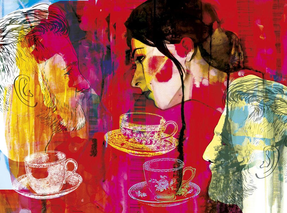 Te för tre, novell, Allas veckotidning