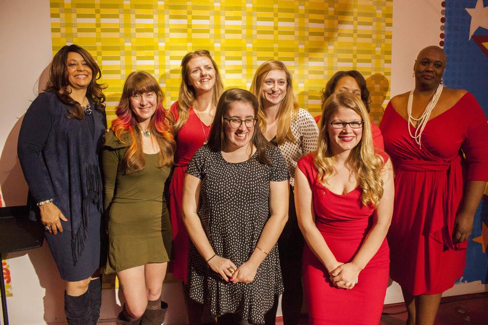 front row: l-r Christine Davenport and Elizabeth Cawein; back row: l-r Gale Jones Carson, Chloe Evans O'Hearn, Leah Keys, Holly Whitfield, Deidre Malone, Adriane Williams