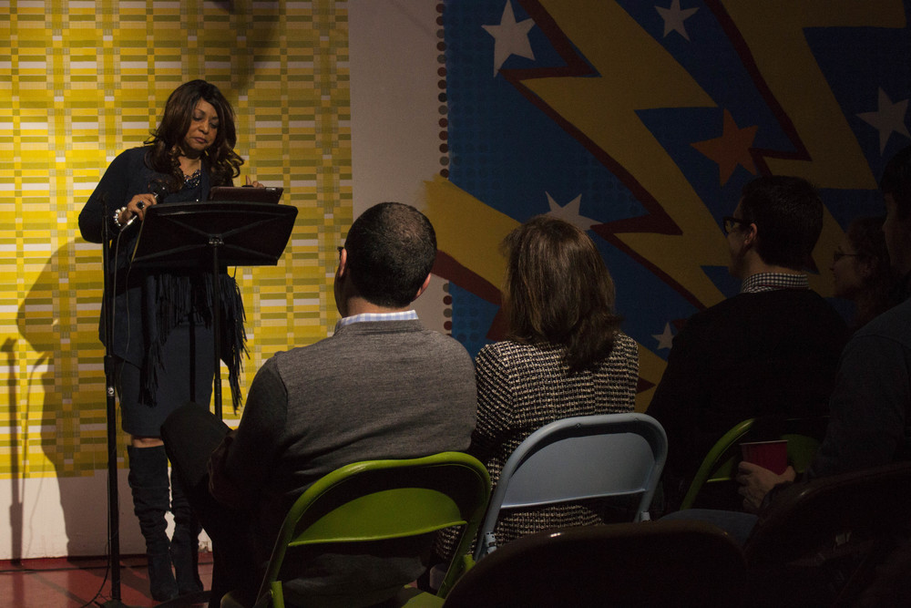 Audience members were engaged in the seven true stories shared.